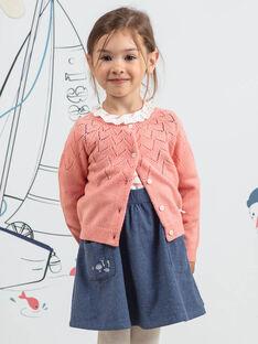 Cardigã mangas compridas rosa padrão coelho menina BYCARETTE / 21H2PFL1CAR415
