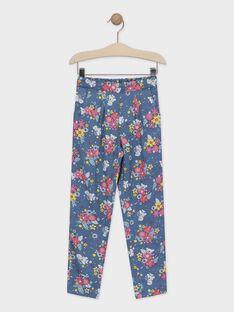 Calças estampado floral azul menina TAEFIETTE 3 / 20E2PFM1PAN210