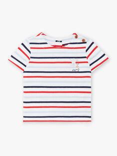 T-shirt mangas curtas às riscas bebé menino ZAOLIVIER / 21E1BGT1TMC000