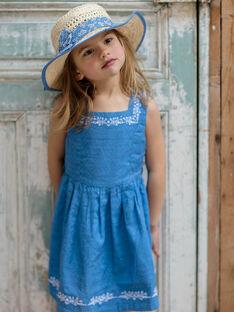 Vestido azul-lavanda reversível com padrões floridos criança menina ZUREVETTE / 21E2PFT1CHSC208