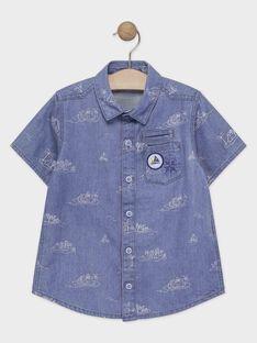 Camisa azul estampada menino TICLOAGE / 20E3PGO1CHMP265