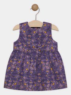 Vestido estampado em cetim bebé menina SAGERALDINE / 19H1BF61CHS712