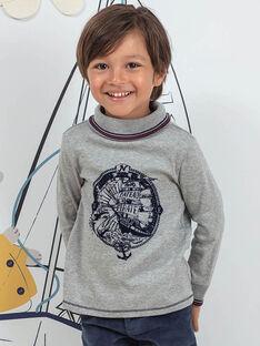 Camisola interior cinzento mesclado padrão piratas menino BIMATAGE / 21H3PGL1SPL943