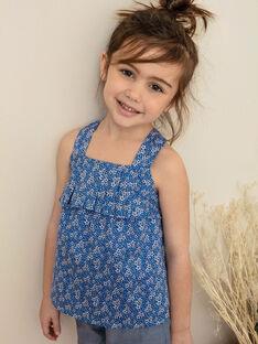 Top azul-lavanda com padrão florido branco criança menina ZUBLIETTE / 21E2PFT1CHEC208