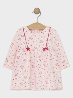 Vestido mangas compridas rosa pálido bebé menina TADARLA / 20E1BFC1ROB301