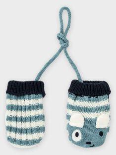 Luvas azul acinzentado às riscas bebé menino TACHERIF / 20E4BGC1GAN001