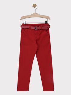 Calças vermelhas em twill toque suave menino SIREGULAGE / 19H3PGP2PAN719