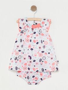 Vestido cru estampado florido bebé menina TAQAMILLE / 20E1BFP1ROB001