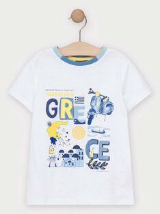 T-shirt de mangas curtas cru menino TIDOAGE / 20E3PGO1TMC001