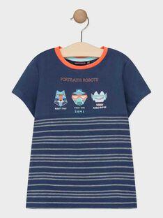 T-shirt de mangas curtas azul-marinho menino TIAZAGE / 20E3PGP1TMCC205