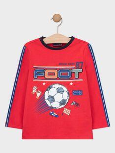 T-shirt mangas compridas vermelho com lantejoulas reversíveis menino TAFIAGE / 20E3PGC1TML050