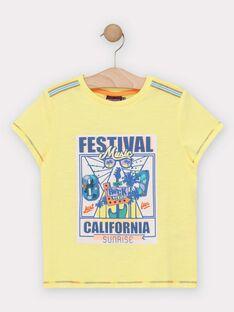 T-shirt de mangas curtas amarelo menino TEJIGAGE / 20E3PGG2TMCB113