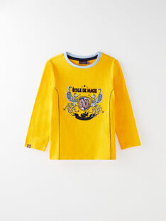 Golden yellow T-SHIRT VAPOLAGE / 20H3PG61TML106