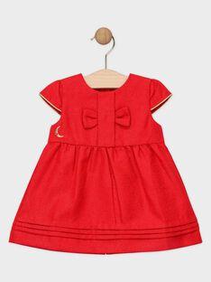 Vestido em jacquard vermelho lurex bebé menina SAZOE / 19H1BFP1ROBF510