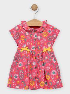 Vestido rosa florido bebé menina TAIS / 20E1BFG1ROB302