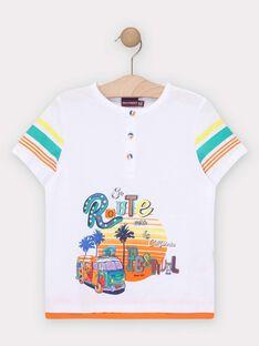 T-shirt de mangas curtas branco menino TEDOUAGE / 20E3PGG3TMC000