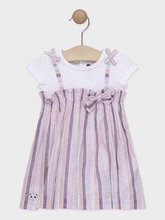Vestido duas matérias bebé menina TAQORALIE / 20E1BFP2ROBD323