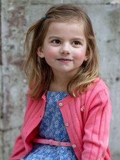Casaco de malha rosa criança menina ZUCAYETTE / 21E2PFT1CARD313