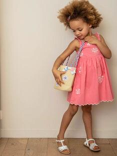 Vestido rosa com padrão florido branco criança menina ZUKOKETTE / 21E2PFT2CHSD313