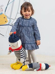 Vestido estampado florido em veludo canelado bebé menina BAKORALIE / 21H1BFL1ROB715