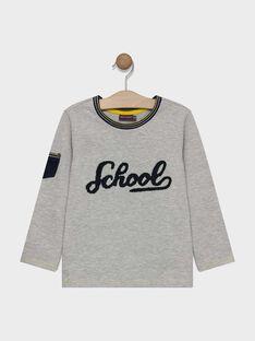 T-shirt mangas compridas cinzento mesclado estampado menino SATOUAGE / 19H3PG41TML943