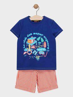 Conjunto menino duas peças: T-shirt de mangas curtas e calções TIPALAGE 4 / 20E3PGV3ENSC244