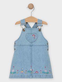 Vestido jardineiras de ganga bebé menina TAILY / 20E1BFG1CHSP269