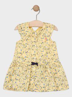 Vestido amarelo florido bebé menina TAOSTINE / 20E1BFO1ROB103