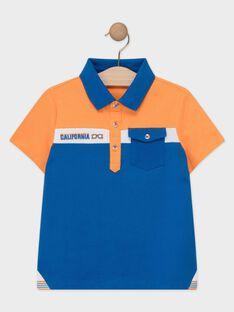 Polo laranja e azul menino TEBRUAGE / 20E3PGG1POL400