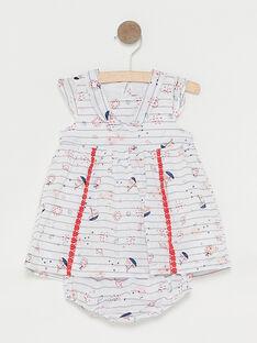 Vestido cru às riscas bebé menina TATIPHENE / 20E1BFW1ROB001