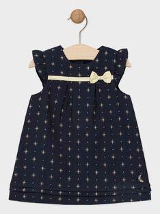 Vestido em jacquard azul noite estrelada bebé menina SAZINA / 19H1BFP2ROB070
