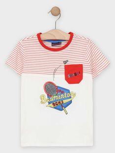 T-shirt de mangas curtas branco às riscas menino TEVIAGE / 20E3PGH1TMC000