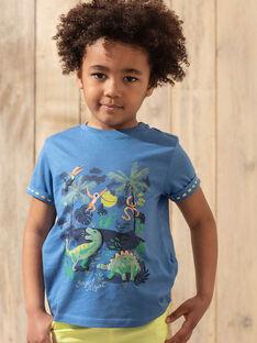 T-shirt de mangas curtas azul menino TUMAGE / 20E3PGX1TMCC232