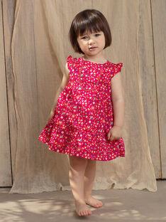 Vestido rosa framboesa com estampado bebé menina TASOLENE / 20E1BFQ1CHSF510