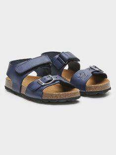 Sandálias azuis de couro menino TILOUSAGE / 20E4PGW1CHTC205