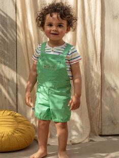 Jardineiras curtas verdes bebé menino TARABI / 20E1BGQ1SAC611